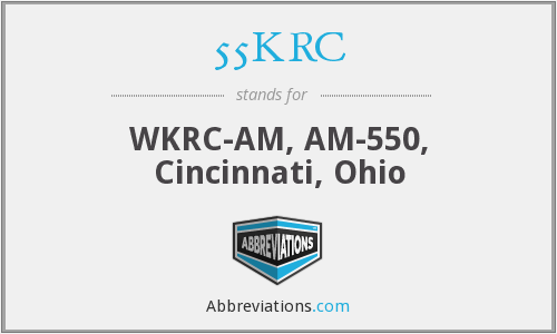 55KRC - WKRC-AM, AM-550, Cincinnati, Ohio