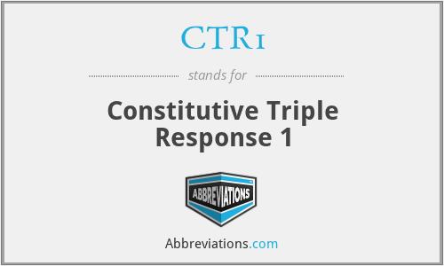 CTR1 - Constitutive Triple Response 1