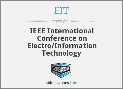 EIT - IEEE International Conference on Electro/Information Technology