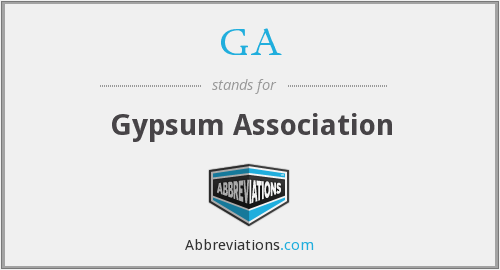 GA - Gypsum Association