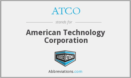 What does ATCO stand for?