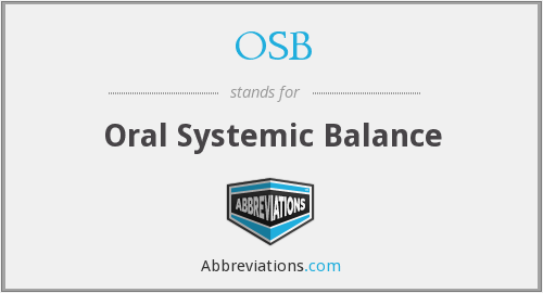 OSB - Oral Systemic Balance