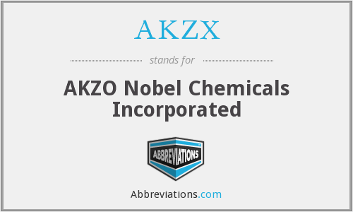 AKZX - AKZO Nobel Chemicals Incorporated