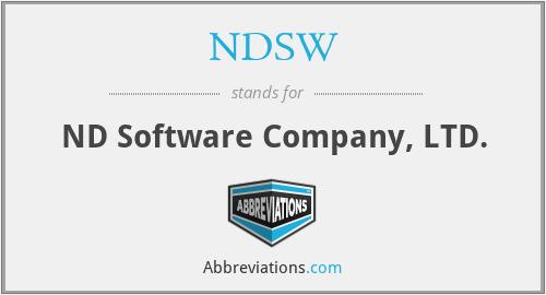 NDSW - ND Software Company, LTD.