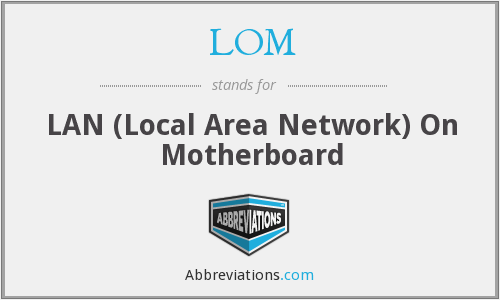 LOM - LAN (Local Area Network) On Motherboard
