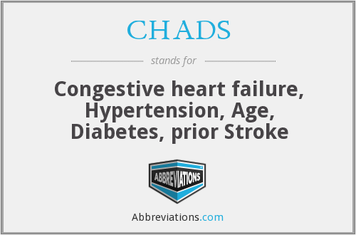 What does CHADS stand for?