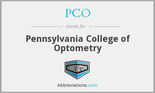 PCO - Pennsylvania College of Optometry