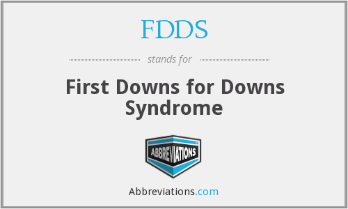 FDDS - First Downs for Downs Syndrome