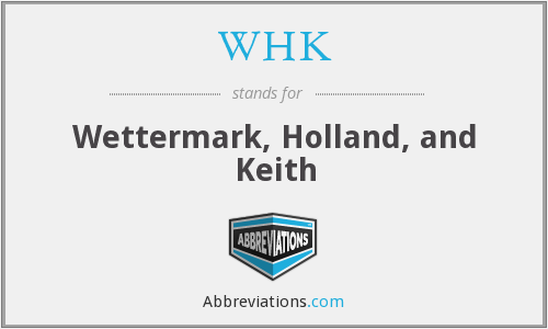 WHK - Wettermark, Holland, and Keith