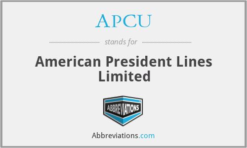 APCU - American President Lines Limited