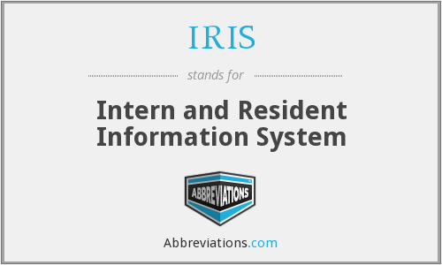 IRIS - Intern and Resident Information System