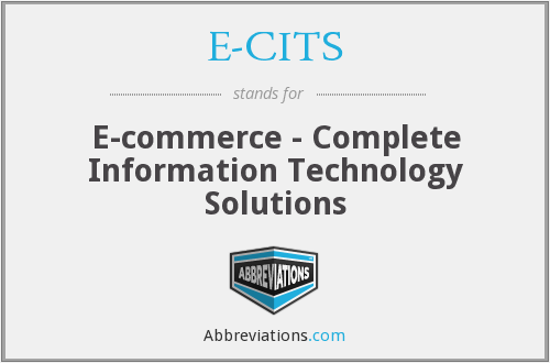 E-CITS - E-commerce - Complete Information Technology Solutions