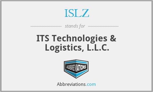 ISLZ - ITS Technologies & Logistics, L.L.C.