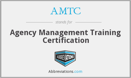 AMTC - Agency Management Training Certification
