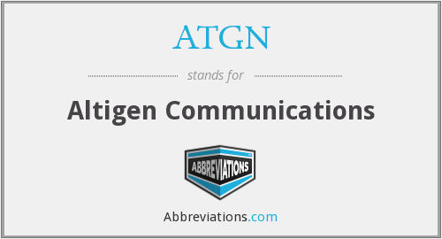 ATGN - Altigen Communications