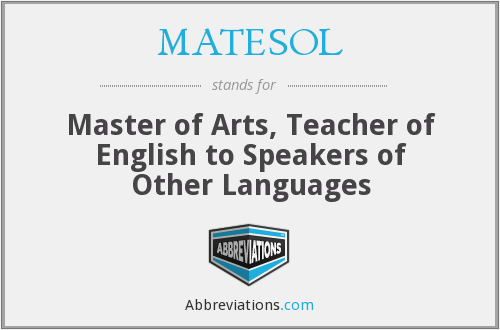 What does MATESOL stand for?