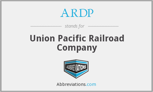 ARDP - Union Pacific Railroad Company