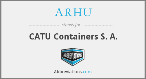 What does ARHU stand for?