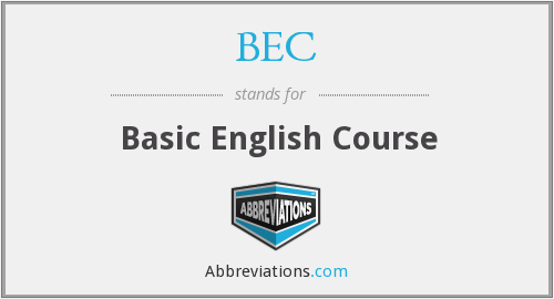BEC - Basic English Course