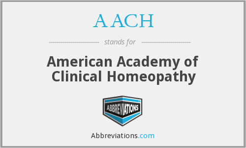 AACH - American Academy of Clinical Homeopathy