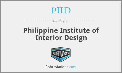 PIID - Philippine Institute of Interior Design