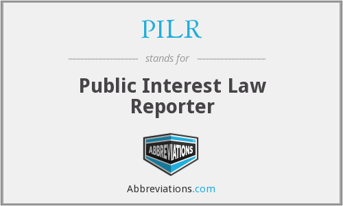 PILR - Public Interest Law Reporter