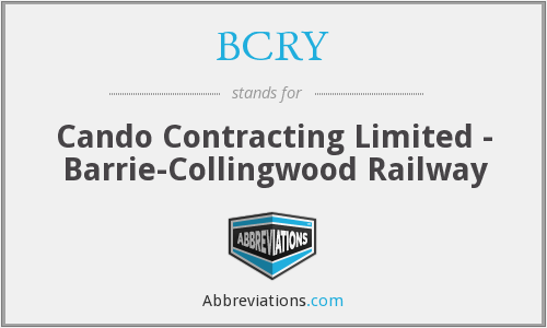 BCRY - Cando Contracting Limited - Barrie-Collingwood Railway