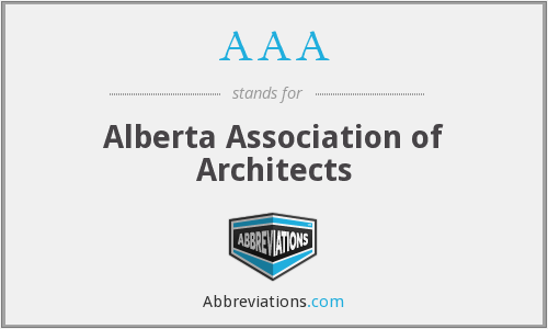 AAA - Alberta Association of Architects