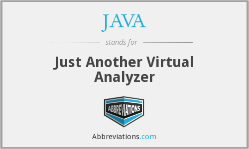 JAVA - Just Another Virtual Analyzer