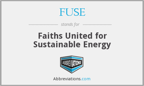 FUSE - Faiths United for Sustainable Energy