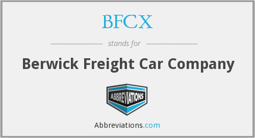 What does BFCX stand for?
