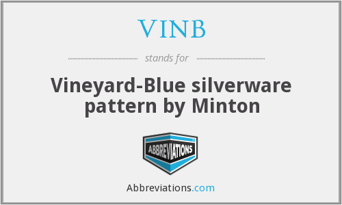 VINB - Vineyard-Blue silverware pattern by Minton