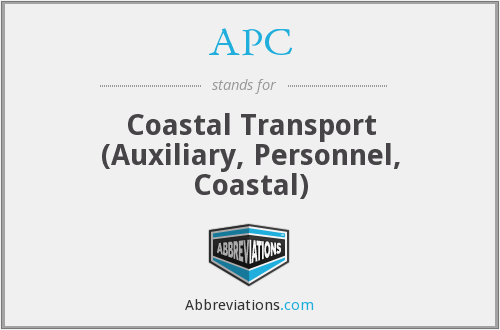 APC - Coastal Transport (Auxiliary, Personnel, Coastal)