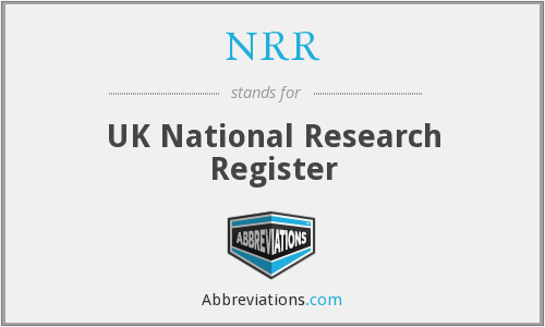 NRR - UK National Research Register