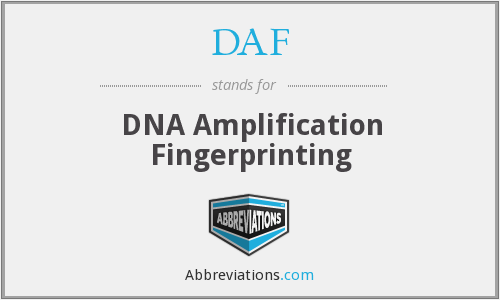 DAF - DNA Amplification Fingerprinting