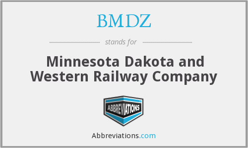 BMDZ - Minnesota Dakota and Western Railway Company