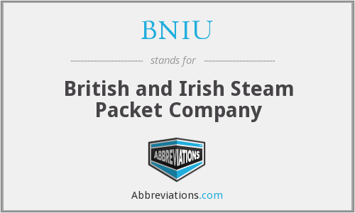 BNIU - British and Irish Steam Packet Company