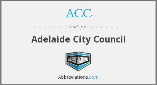 ACC - Adelaide City Council