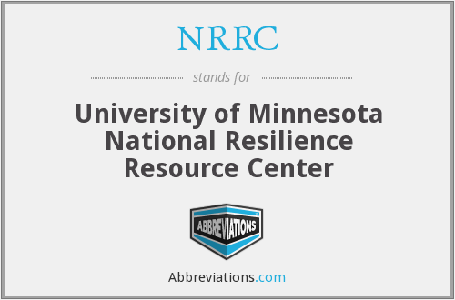 NRRC - University of Minnesota National Resilience Resource Center