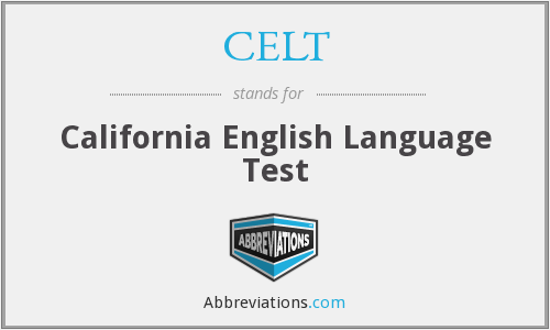 CELT - California English Language Test