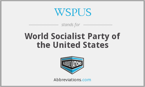 WSPUS - World Socialist Party of the United States