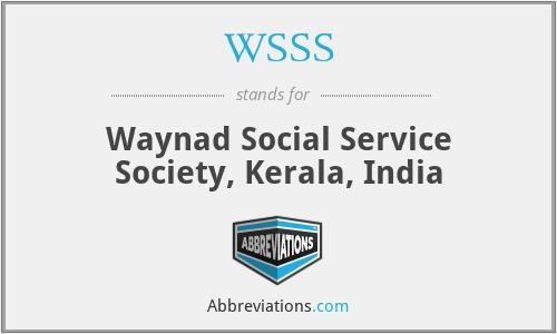 WSSS - Waynad Social Service Society, Kerala, India