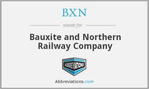 BXN - Bauxite and Northern Railway Company