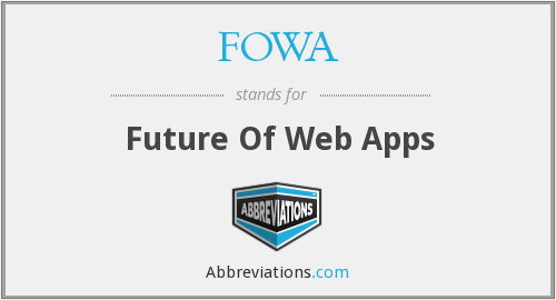 FOWA - Future Of Web Apps