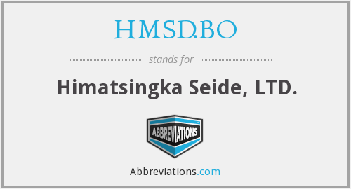 What does HMSD.BO stand for?