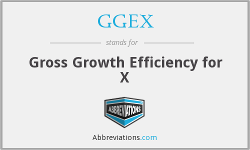 GGEX - Gross Growth Efficiency for X