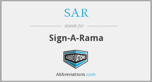 SAR - Sign-A-Rama