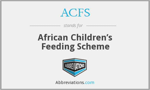 ACFS - African Children's Feeding Scheme