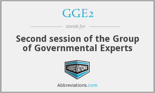 What does GGE2 stand for?