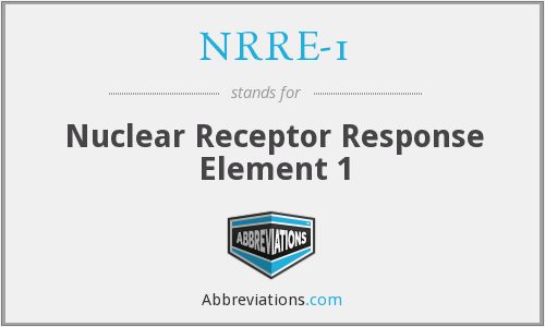 What does NRRE-1 stand for?